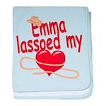 Emma Lassoed My Heart baby blanket