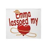 Emma Lassoed My Heart Throw Blanket