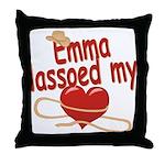 Emma Lassoed My Heart Throw Pillow