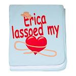 Erica Lassoed My Heart baby blanket