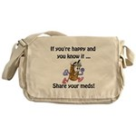 Share Your Meds Messenger Bag