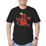 Erin Lassoed My Heart Men's Fitted T-Shirt (dark)