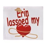 Erin Lassoed My Heart Throw Blanket