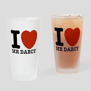 I Love Darcy - Jane Austen Drinking Glass