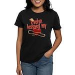 Evelyn Lassoed My Heart Women's Dark T-Shirt