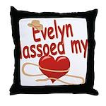 Evelyn Lassoed My Heart Throw Pillow
