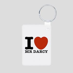 I Love Darcy - Jane Austen Aluminum Photo Keychain