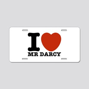 I Love Darcy - Jane Austen Aluminum License Plate