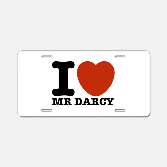 I Love Darcy - Jane Austen Aluminum License Plate
