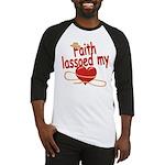 Faith Lassoed My Heart Baseball Jersey