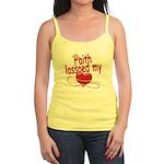 Faith Lassoed My Heart Jr. Spaghetti Tank