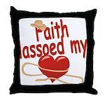 Faith Lassoed My Heart Throw Pillow