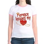 Florence Lassoed My Heart Jr. Ringer T-Shirt