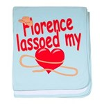 Florence Lassoed My Heart baby blanket