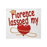 Florence Lassoed My Heart Throw Blanket