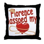 Florence Lassoed My Heart Throw Pillow