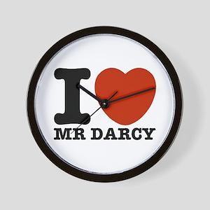 I Love Darcy - Jane Austen Wall Clock