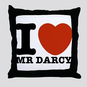 I Love Darcy - Jane Austen Throw Pillow