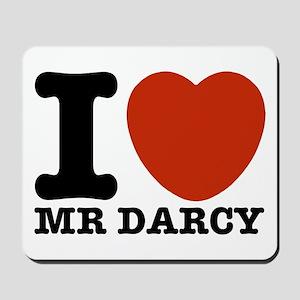 I Love Darcy - Jane Austen Mousepad