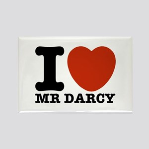 I Love Darcy - Jane Austen Rectangle Magnet
