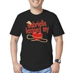 Gabriella Lassoed My Heart Men's Fitted T-Shirt (d