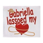 Gabriella Lassoed My Heart Throw Blanket