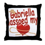 Gabriella Lassoed My Heart Throw Pillow