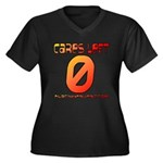Cares Left 1 Women's Plus Size V-Neck Dark T-Shirt