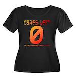 Cares Left 1 Women's Plus Size Scoop Neck Dark T-S