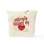 Gabrielle Lassoed My Heart Tote Bag