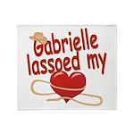Gabrielle Lassoed My Heart Throw Blanket