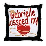 Gabrielle Lassoed My Heart Throw Pillow