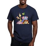 Jungle Animals Men's Fitted T-Shirt (dark)