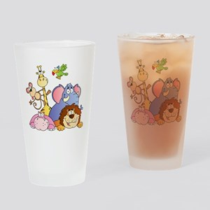 Jungle Animals Drinking Glass