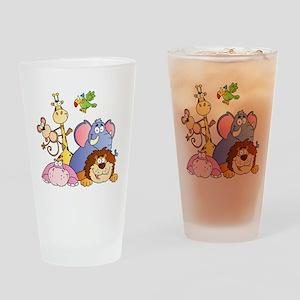 Jungle Animals Drinking Glass