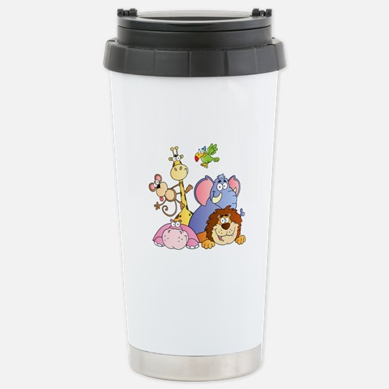 Jungle Animals Stainless Steel Travel Mug