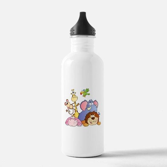 Jungle Animals Water Bottle