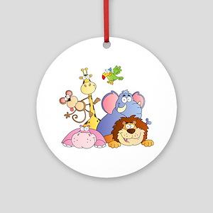 Jungle Animals Ornament (Round)