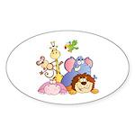 Jungle Animals Sticker (Oval 50 pk)