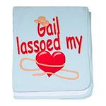 Gail Lassoed My Heart baby blanket