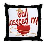 Gail Lassoed My Heart Throw Pillow
