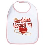 Geraldine Lassoed My Heart Bib