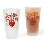 Geraldine Lassoed My Heart Drinking Glass