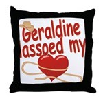 Geraldine Lassoed My Heart Throw Pillow