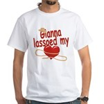 Gianna Lassoed My Heart White T-Shirt