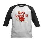 Gloria Lassoed My Heart Kids Baseball Jersey