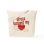Grace Lassoed My Heart Tote Bag