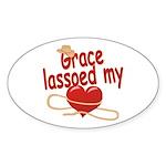 Grace Lassoed My Heart Sticker (Oval)