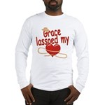 Grace Lassoed My Heart Long Sleeve T-Shirt