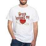 Grace Lassoed My Heart White T-Shirt